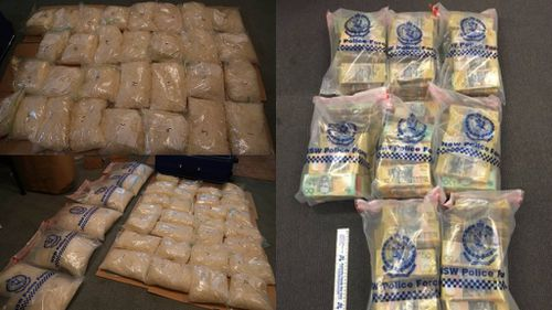 The street value of 'ice' seized was almost $45 million. (NSW police)