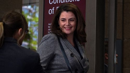 ABC journalist Louise Milligan arrives to the Magistrates Court in Melbourne on March 27, 2018. (AAP)
