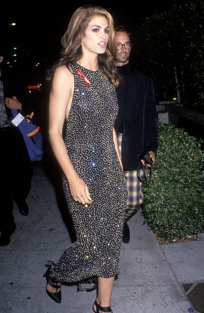 Cindy Crawford and Herb Ritts at the 8th MTV Video Music Awards after party on September 5, 1991 in West Hollywood