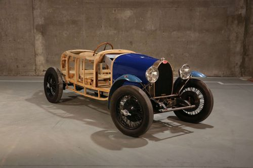 The half-reconstructed 1929 Bugatti Type 40.