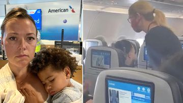 "Rachel Starr Davis said after she took her seat the flight attendant informed her and her ""overtired"" son that if she could not get him to wear a face covering they would be asked to leave the aircraft."