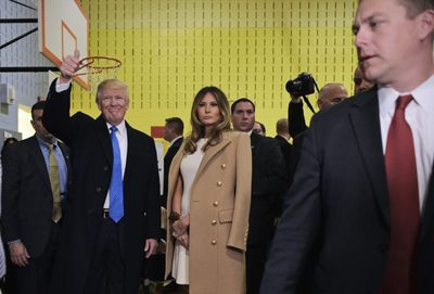 <p>Melania Trump in Balmain, November 2016</p>