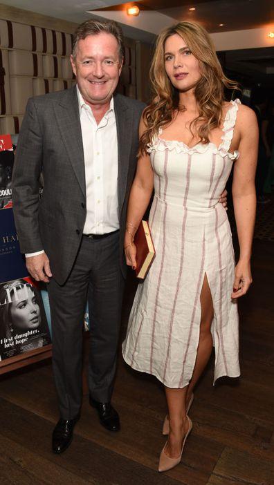 Piers Morgan and wife Celia Walden. 2018