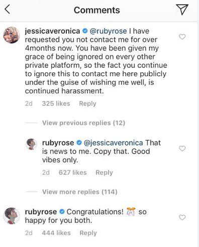 Jess Origliasso 'likes' fan comments accusing ex-girlfriend