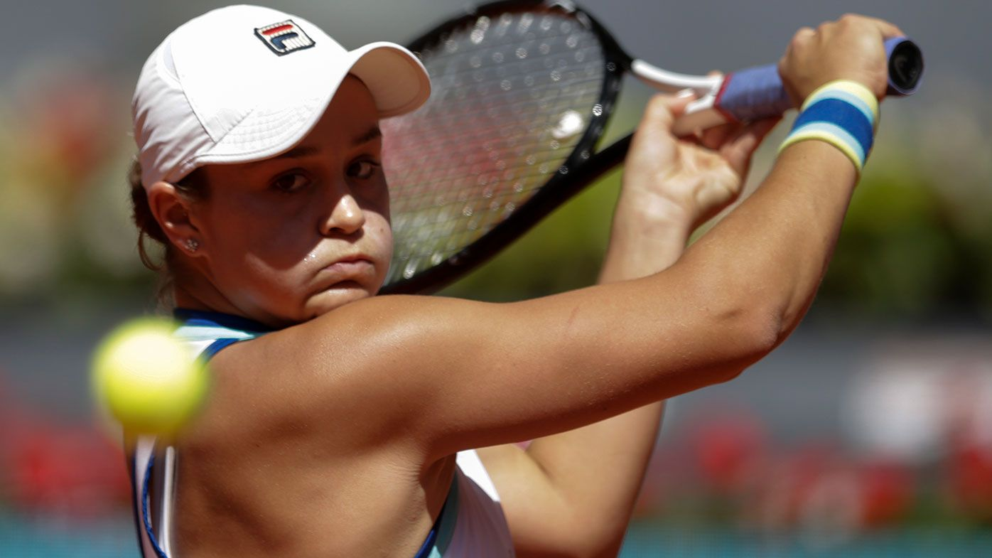 Ash Barty was beaten by Simona Halep in the quarter finals of the Madrid Open.