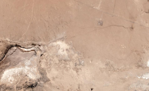 This satellite image shows the same section of the California desert after Friday's 7.1 magnitude earthquake
