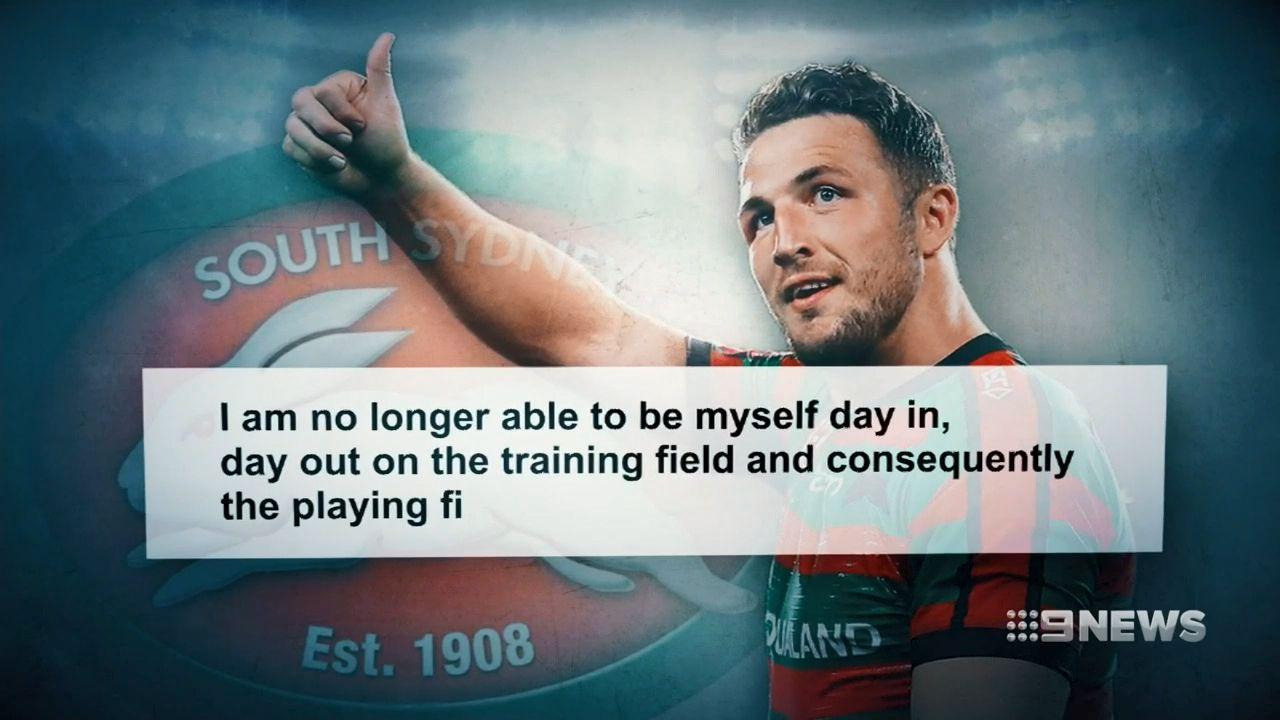 Sam Burgess confirms NRL retirement in emotional letter to South Sydney Rabbitohs fans