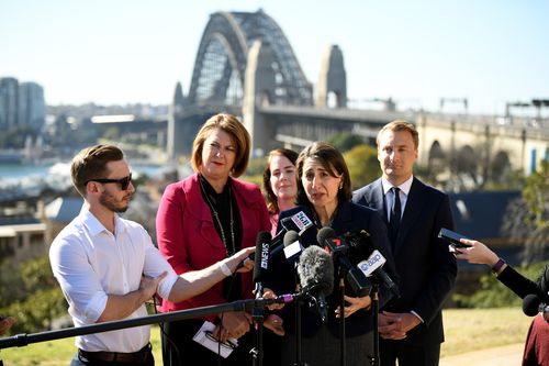 Premier Gladys Berejiklian admits tolls northbound and southbound across the Harbour may be 'unavoidable.' Picture: AAP