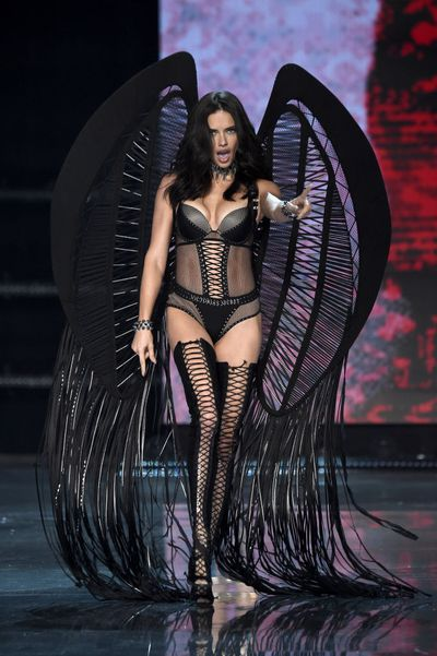 Adriana Lima at the Victoria's Secret 2017 runway show in Shanghai.