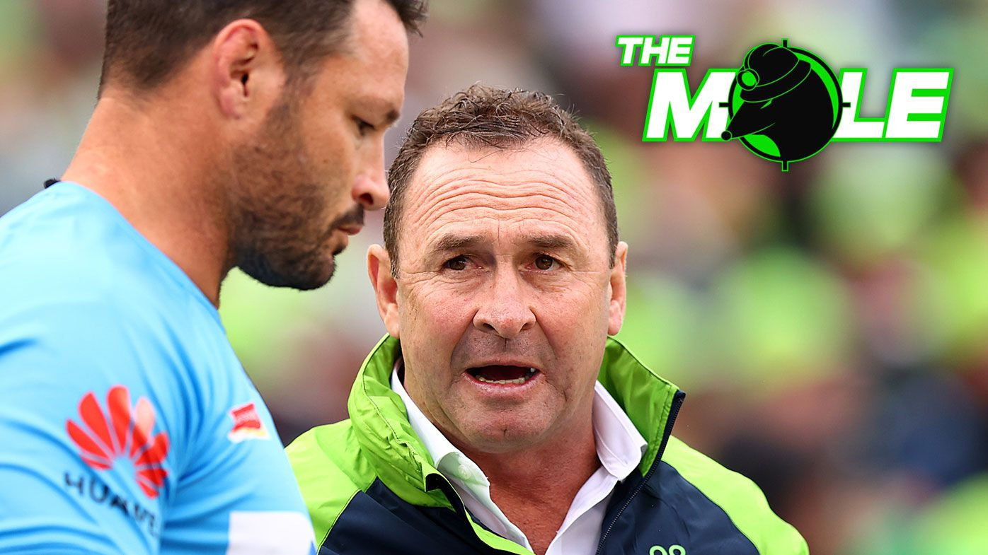 Canberra coach Ricky Stuart is in hot water after allegedly abusing referee Henry Perenara in Saturday's match against the Warriors.