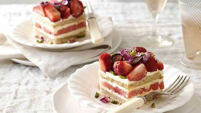 6. Blackstar Pastry's strawberry and watermelon cake