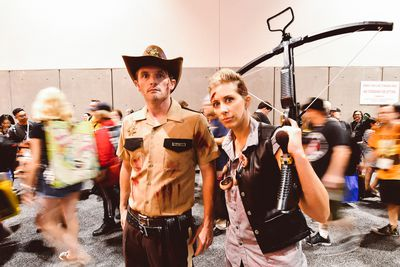 If a zombie outbreak happens at this year's Comic-Con, Rick Grimes and Darryl Dixon are here to help.