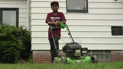 Reggie Fields set up his lawn mowing business to make pocket money.