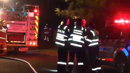 Firefighters spent just over an hour battling the blaze. (9NEWS)