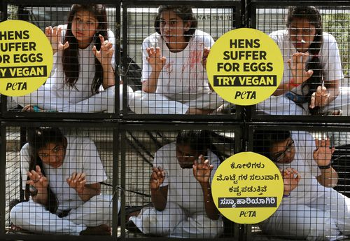 Animal rights group PETA has advocated for people to take on a vegan diet. (AAP)