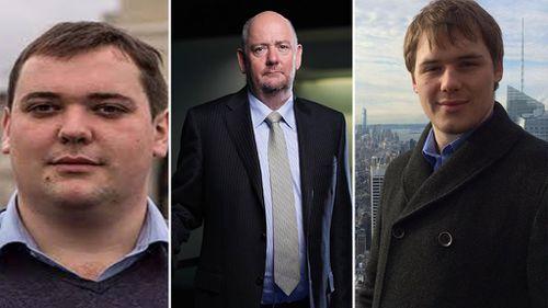 William, Richard and Edward Cousins. (Supplied)