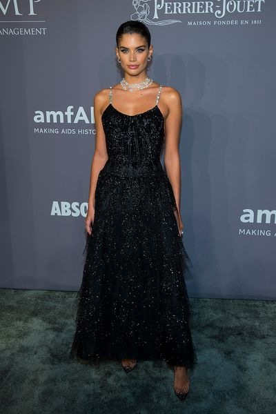 Sara Sampaio in Armani Privé at the 20th Annual amfAR Gala