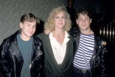 Johnny, 15, is pictured here with Joanna Kerns and David Barry Gray, his co-stars in telemovie <i>Blind Faith</i>. Johnny had already been in a few telemovies and movies since 1987.<br/><br/>Image: Getty