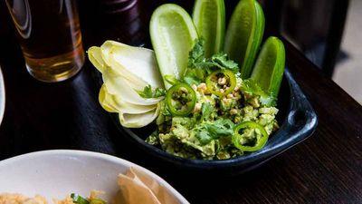 "Recipe: <a href=""http://kitchen.nine.com.au/2017/04/07/14/42/potts-point-hotels-avocado-guacamole-with-jalapeno"" target=""_top"">Potts Point Hotel's avocado guacamole with jalapeno</a>"