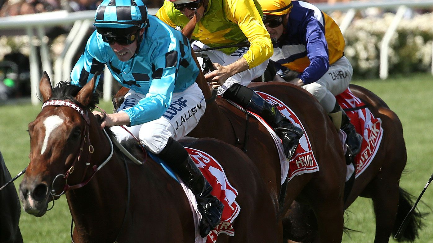 Extra Brut claims Group 1 Victoria Derby with supreme display of stamina