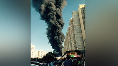 It took firefighters about 15 minutes to control the blaze. (Instagram @diffchina_)