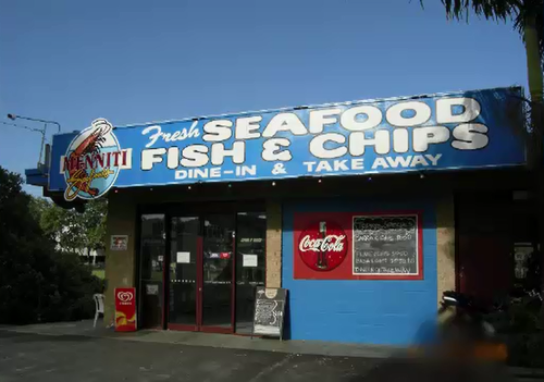 The fish and chip shop at the centre of the feud.