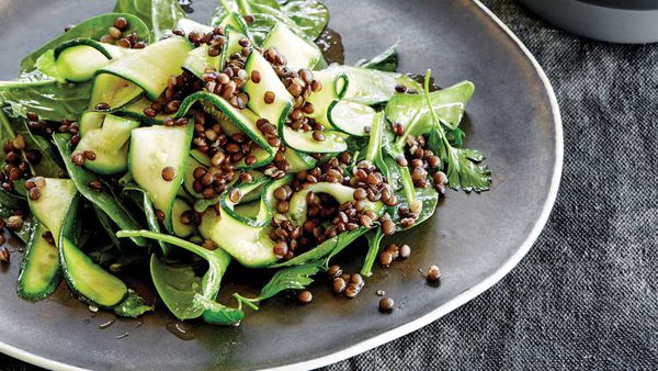 Puy lentil and zucchini salad by Emma Ellice-Flint