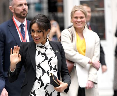 Meghan joins an International Women's Day panel, March 2019