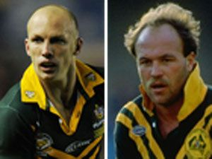 Darren Lockyer and Wally Lewis.