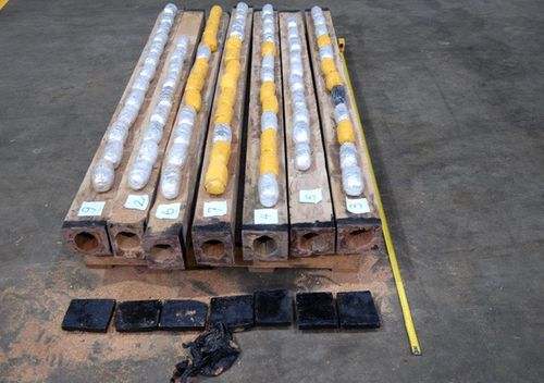 In 2016 a cargo of timber logs seized at Perth was allegedly drilled open to hide a consignment of meth.