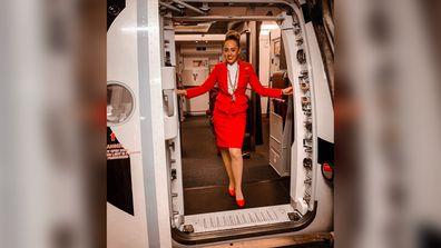 Jordan Hazrati as flight attendant