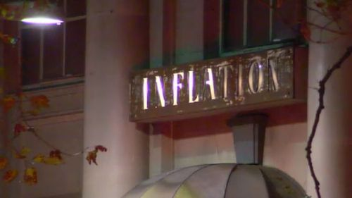 Inflation nightclub located on King Street in Melbourne. (9NEWS)