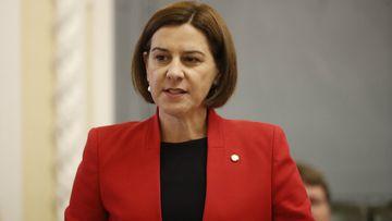 LNP leader Deb frecklington in Question Time. Picture: AAP
