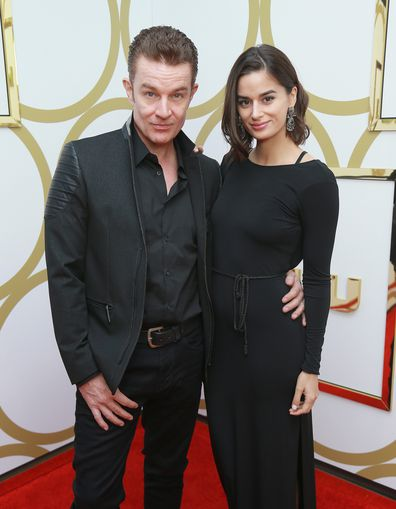 James Marsters and Patricia Rahman attend Hulu's 2018 Emmy Party at Nomad Hotel Los Angeles on September 17, 2018 in Los Angeles, California.
