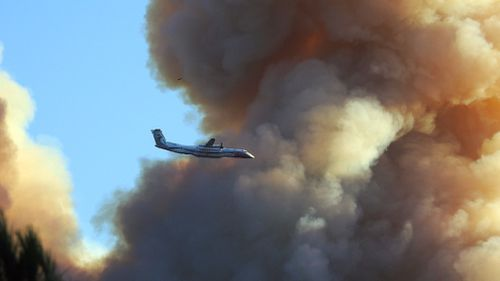 Firefighter efforts are ongoing. (AFP)