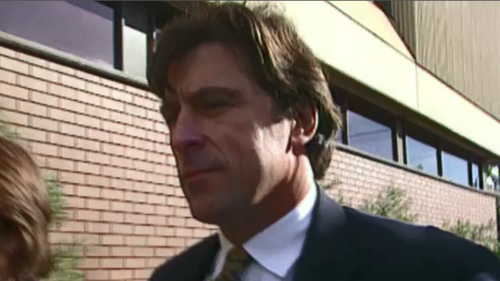 "Michael ""Mick"" Hamill was jailed in 1997 for bashing The Footy Show's Sam Newman. (9NEWS)"