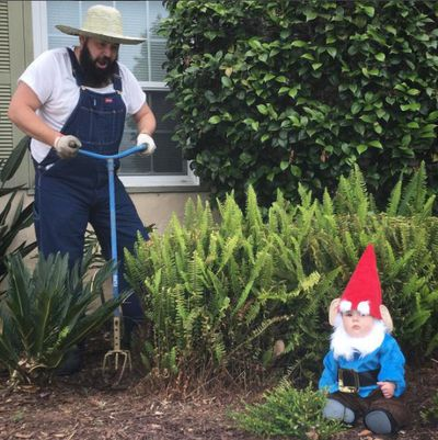 A garden gnome is always a nice touch.