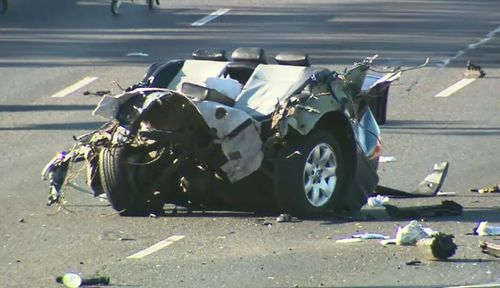 Little was left of the BMW after the horrific crash.