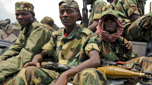 Soldiers in the Democratic Republic of Congo. (AAP)