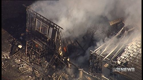 The uninsured family home was gutted in the fire. (9NEWS)
