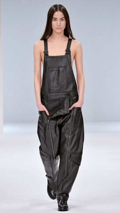 No self-respecting late-'80s style icon's wardrobe would be complete without overalls. Cue Chalayan.
