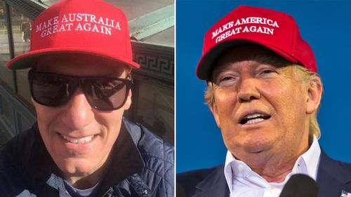 Cory Bernardi channeling Donald Trump's signature style.