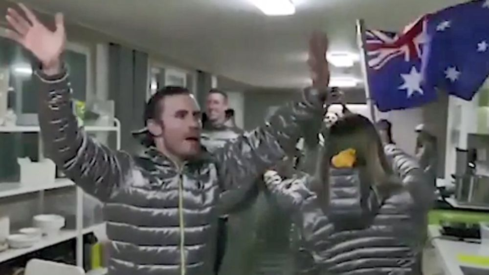 Winter Olympics: Australian athletes unable to attend official opening celebrate their own makeshift ceremony