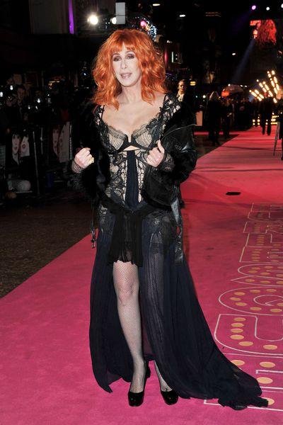 Cher at the <em>Burlesque</em> UK premiere in London, December, 2010