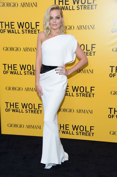Margot Robbie in Armani Prive at the<em> The Wolf Of Wall Street</em> premiere in New York on December 17, 2013