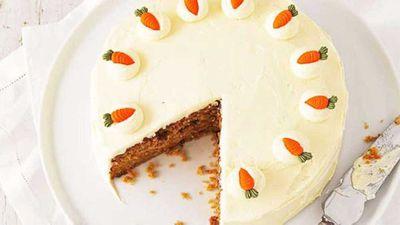 "Recipe:&nbsp;<a href=""http://kitchen.nine.com.au/2016/05/16/15/00/carrot-cake"" target=""_top"">Carrot cake</a>"