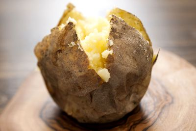 Potatoes: Boiled, steamed, baked or roasted dry or with minimal oil (i.e. olive oil)