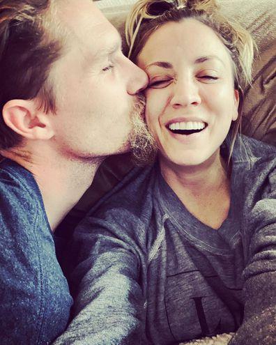 Kaley Cuoco and estranged husband Karl Cook.