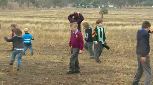 Children finally had a chance to play in the rain this week, even if it was shortlived. Picture: 9NEWS