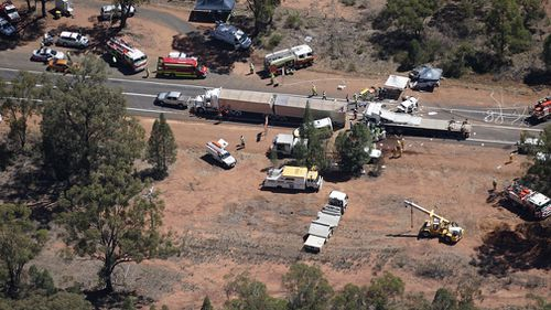Aerial images show the crash scene. (Supplied)